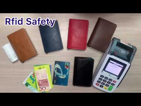 Кардхолдер кредитница с алюминиевым отсеком для RFID защиты на 8 кредитных карт Baellerry светло коричневый (ВY-26209) Video #1