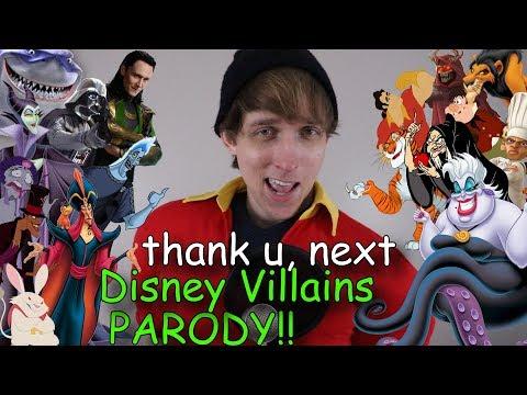 Thank U, Next in Disney Villain Impressions!! (Ariana Grande Parody)