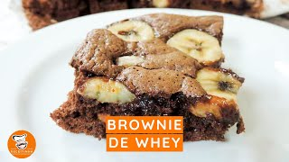 #60 - Como Fazer Brownie de Whey com Chocolate e Banana