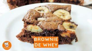 #60 - Como Fazer Brownie de Whey com Chocolate e Banana