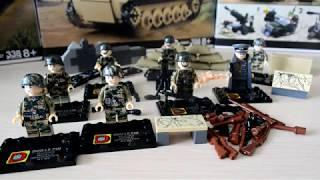 Крутые немецкие солдаты в камуфляже (Lego-аналог)+диорама