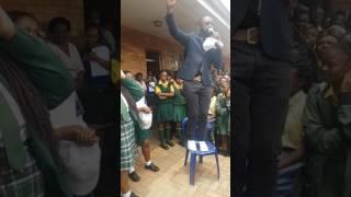DJ Sbu At Tembisa High School.