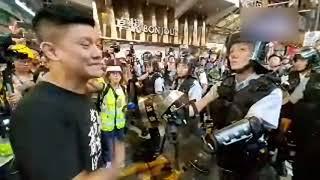 「23萬人九龍反送中」警方深夜清場找不到示威者發洩就找議員和記者發洩 發了瘋撞啊撞