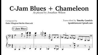 Jonathan Wilson| C-Jam Blues & Chameleon Medley| Funk Piano Transcription