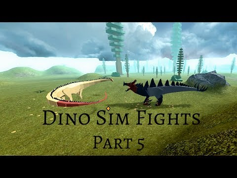 Dino Sim Fights Part 5 - The struggle of being outnumbered