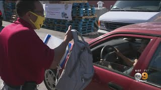 Drive-Thru Backpack Giveaway In Harvard Heights Assists Low-Income Households
