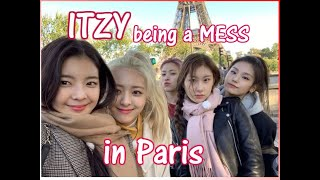 itzy being a mess in paris