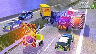 LS17 Feuerwehr Einsatz - LKW Durchbricht Leitplanke Auf Autobahn Von Bauhof Weber 🚨💥