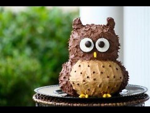 Как сделать торт с виде совы