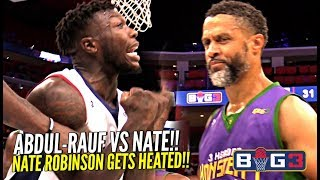 "Nate Robinson vs The ""OG Steph Curry"" Mahmoud Abdul-Rauf!! Nate Gets SHIFTY & HEATED at The Big 3!!"