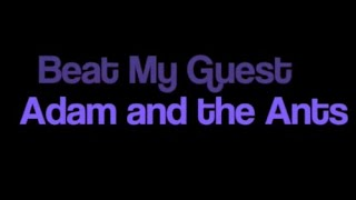 Adam and the Ants Beat My Guest karaoke