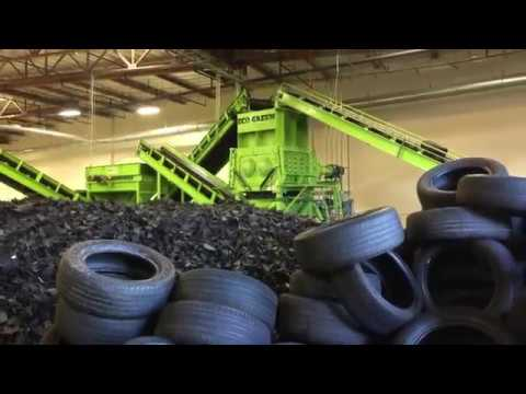 Recycled Tires To Colored Granules