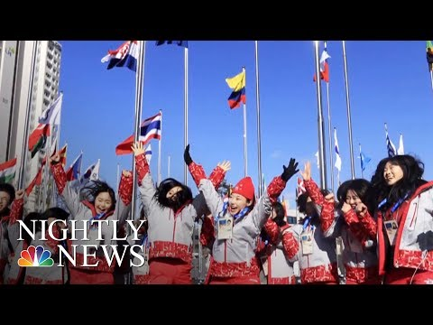 North Korean Athletes Arrive In PyeongChang Ahead Of Olympic Games | NBC Nightly News
