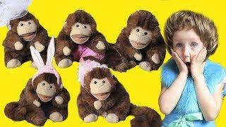 Five Little Monkeys Jumping On The Bed /5 маленьких обезьян /Детские песни
