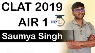 CLAT Topper interview Saumya Singh AIR 1 - How to clear CLAT exam? Strategy Books Timetable