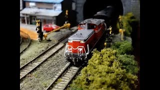 Nゲージ鉄道模型KATOサウンドボックスTOMIXDD51-1186号機+35系4000番台やまぐち号客車自宅レイアウト運転会