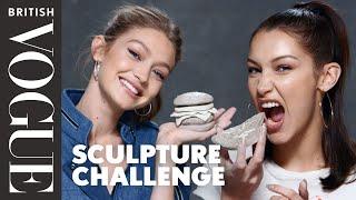 Gigi And Bella Hadid Take The Sculpture Challenge | British Vogue - dooclip.me