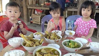 Về Quê Chơi Hè : Đi Bắt Cá Ăn Cơm Thịt Gà Ha Ha Ha ❤ AnAn ToysReview TV ❤