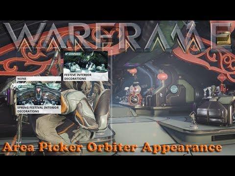 Warframe - Area Picker Orbiter Appearance