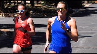 Heather Kampf & Breanna Sieracki (10x300m HILLS @ 7300FT)