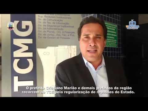 Prefeito Marião no Tribunal de Contas MG - Cobrando repasse do estado.