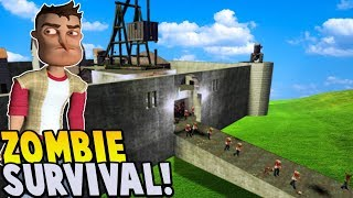 ZOMBIE APOCALYPSE AT THE CASTLE! | Garry's Mod Gameplay | Gmod Gameplay Surviving A Zombie Outbreak!