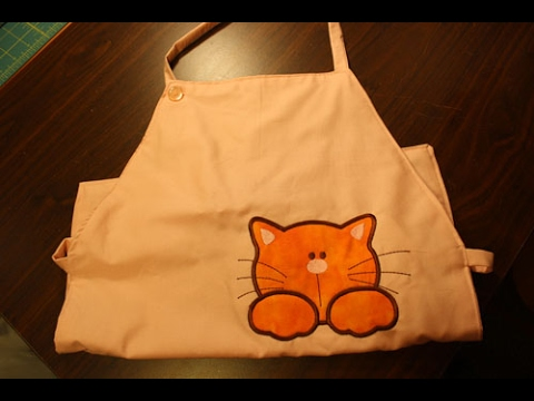 Cat Apron Project - Learn how to make a apron with a free apron