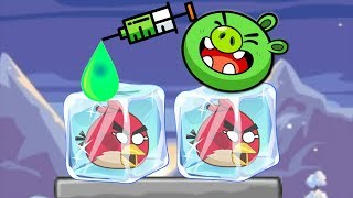 Unfreeze Angry Birds vs Frog Drink Water - PROVIDE WATER TO RESCUE THE FROZEN ANGRY BIRDS!
