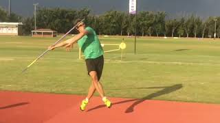 Adam Helcelet Javelin Throw side view training camp 2018