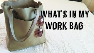 Whats In My Work Handbag- Madewell Medium Transport Tote (Olive)