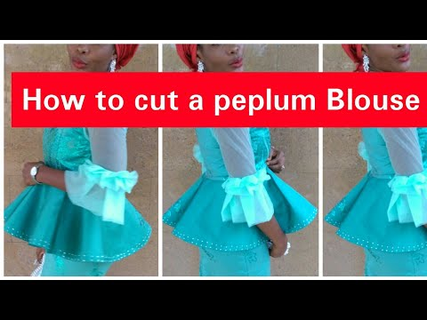 How to Cut A Peplum Blouse [Easiest Method]