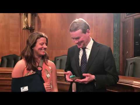 Sen. Michael Bennet and Olympic Snowboarder Arielle Gold Urge Climate Change Action