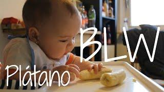 Método BLW (Baby Led Weaning) - Bebé De 6 Meses Comiendo Plátano