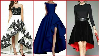 Stylish Stunning And Elegant High Low Evening Gown Dresses/Prom Dresses