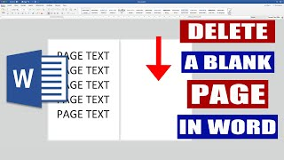 How to DELETE a blank page in Word | MS Word Tutorial