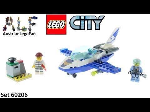 Vidéo LEGO City 60206 : Le jet de patrouille de la police
