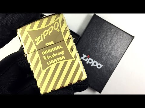 49075 Зажигалка Zippo Vintage Zippo Box Top, High Polish Brass