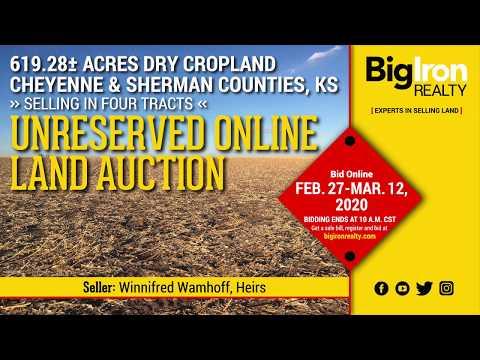 Land Auction 619.28+/- Acres Cheyenne & Sherman County, KS