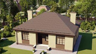 Проект дома 114-D, Площадь дома: 114 м2, Размер дома:  13,6x11 м