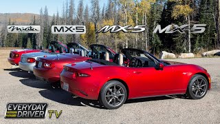 Which is Best? - Driving all Four MX5 / Miatas - TV Season 1 Ep. 2 | Everyday Driver