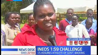 Nandi residents gather in Kapsisiwa Primary awaiting Eliud Kipchoge to break INEOS 1:59 Challenge