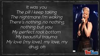 Pink - Beautiful Trauma (lyrics) video ---- Unofficial.