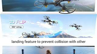 Drones with Camera for Adults Long Flight Time, EACHINE E38 WiFi FPV Quadcopter Drone with 720P