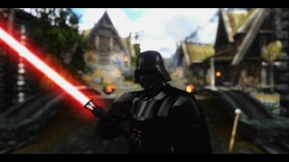 Skyrim mod: Броня и Световой Меч Дарт Вейдера