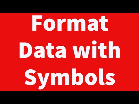 Automate Formatting of Data with Symbols