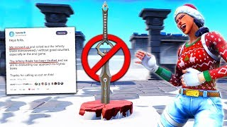 Fortnite but the Sword Is *BANNED* lol