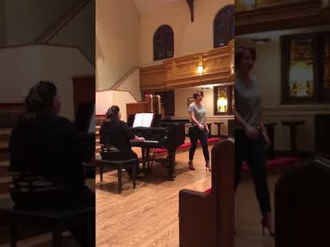 Me singing Deh vieni non tardar from Le nozze di Figaro :)