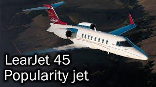 LearJet 45 - popular business jet. History and description