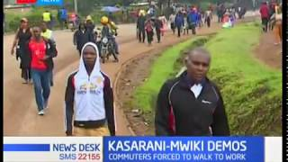 Kasarani commuters stranded as matatu operators protest bad roads