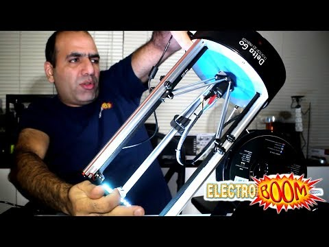What's a Delta 3D Printer, a Delta Go Review